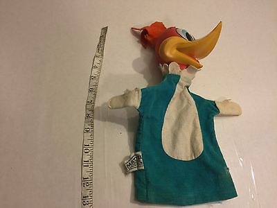 """woody Woodpecker"" Vintage 1962 Mattel Cartoon Puppet Doll"