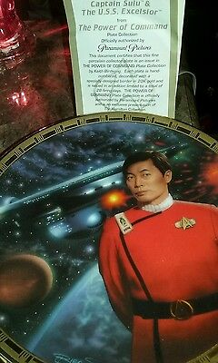 Star Trek Captain Sulu & The U.s.s. Eexcelsior Plate