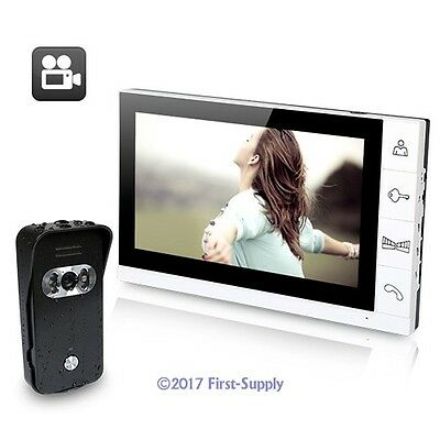 """Wired Video Door Phone Intercom And Security System 9"""" LCD Recording Monitor"""