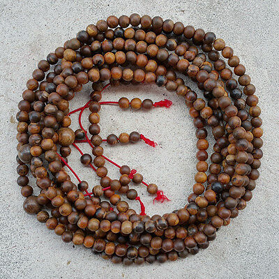 108 Beads Nice Smell Agarwood Meditation Prayer 6 MM Borneo Gaharu Buaya Mala