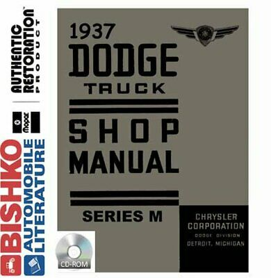 1937 only Plymouth Shop Manual 37 P3 P4 Repair Service Book