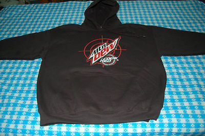 Mountain Dew Black Hoodie Code Red Mtn Promo New No Tag