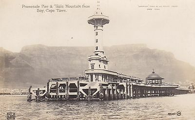 South Africa Real Photo Promenade Pier From Bay Cape Town Dated 1917 Postcard