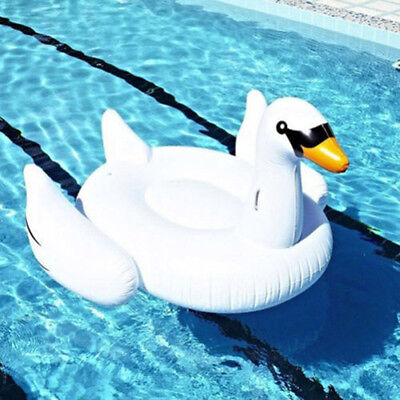 Fashion Summer Lake Swimming Pool Kids Child Rideable Swan Inflatable Float Toy