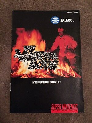 The Ignition Factor Super Nintendo SNES ~ Manual Only! ~ Very Good! ~ Fast Ship!