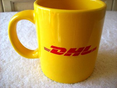 DHL COLLECTIBLE Yellow with Red COFFEE CUP MUG