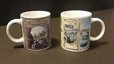 JOHN DEERE Reindeer and Nature Coffee Mugs