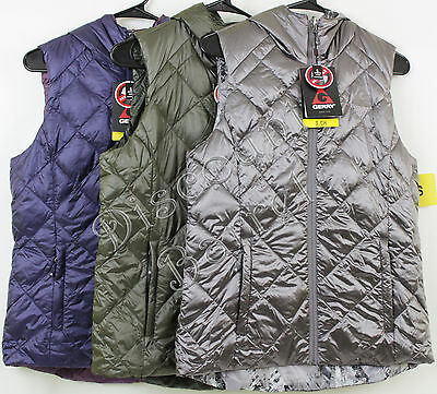 New Women's Gerry Reverisble Hooded Packable Down Vest S M XL XXL Variety