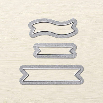 Stampin' Up! Bitty Banners Framelits Dies - Brand New