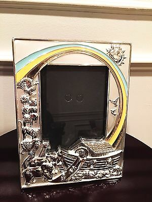 Lenox Noah's Ark Silver Plated Vertical 4 x 6 Picture Frame