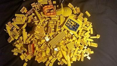 Assorted Yellow Lego Bricks - Approximate 710g