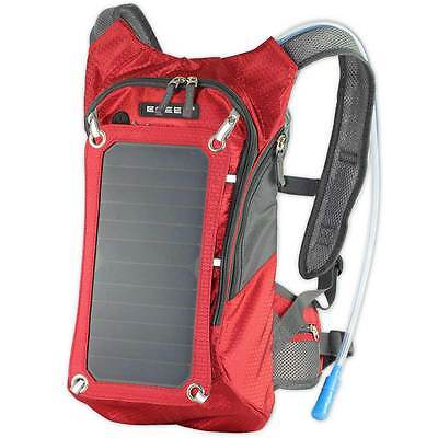 Solar Backpack Water Bladder Hydration Pack 2L Portable Charger Cycling Rucksack