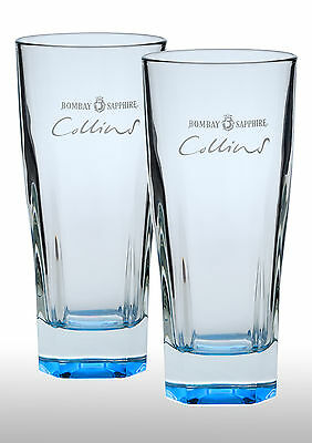 Bombay Sapphire Collins Gin Glasses X 2 New