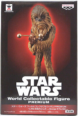 "BANPRESTO STAR WARS World Collectable Figure PREMIUM "" Chewbacca "" F/S WCF Japan"
