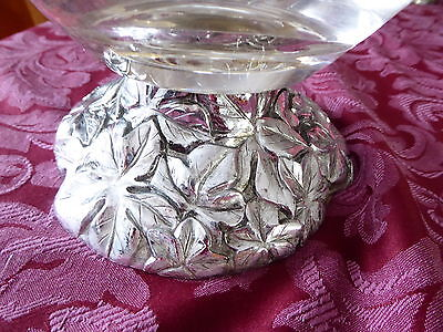 Beautiful Crystal Bowl With Silver Foot,made In England .