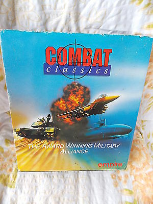"Combat Classics F - 15 Strike Eagle II in Box MS-Dos Game 5.25"" disk"