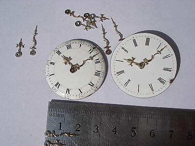 Verge fusee pocket watches  Solid brass set pair hands