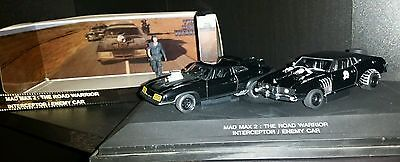 Figure Mad Max 54Mm Andrea Miniatures Y Interceptor And Enemy Car