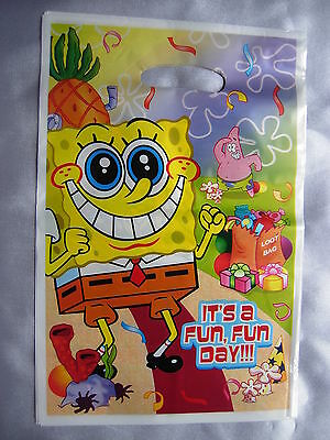 10 Children Kids Boys Birthday Party Loot Gift Bags, Filler Sponge Bob