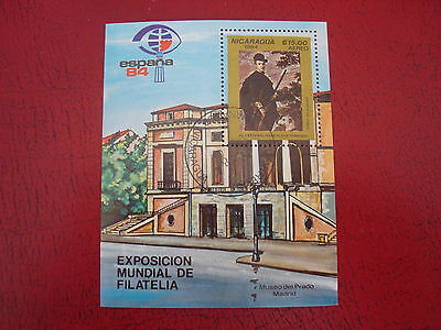 Nicaragua - 1984 Spain -  Minisheet - Unmounted Used - Ex. Condition
