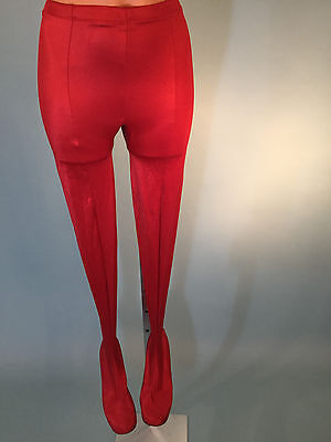 1960's Pan-T-Boot Red Spandex Disco Pants Size 9-10