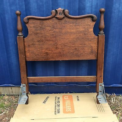Antique Single Bed Head and Bed End Silky Oak Timber Very Good Condition