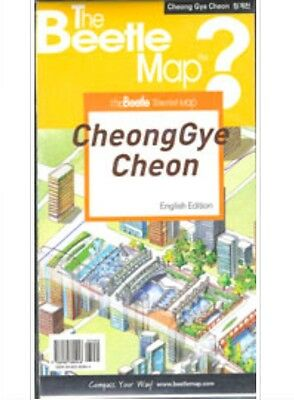 CheongGyeCheon Map CheongGye Stream Map at Seoul in English 720*450mm 청계천 영문 지도