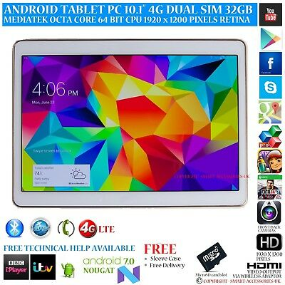 """10.1"""" ANDROID 6 PHONE TABLET PC 4G LTE DUAL SIM OCTA CORE 32GB 1920 x 1200 IPS"""