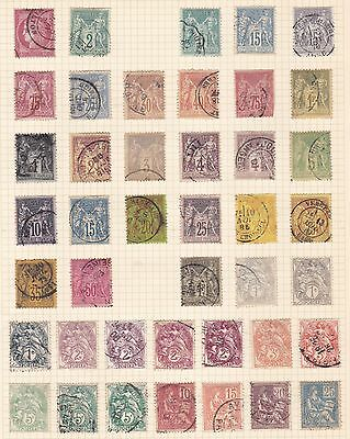 France  1876 - 1900 Good Page Of Earlies  Used