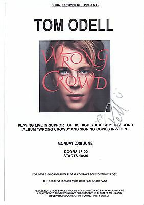 Tom Odell - SIGNED Poster + Wristband 2016