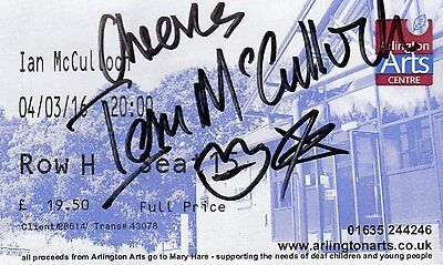 Ian McCulloch (Echo & Bunnymen)- SIGNED Used Ticket (2016)