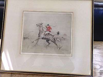 Sporting print Tom Carr, pencil signed, original print (Riot!!)