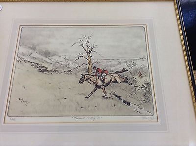 Sporting print Tom Carr, pencil signed, original print (Forward away!!)