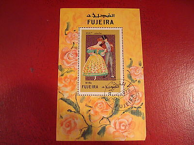 Fujeira - 1972 Textiles - Minisheet - Unmounted Used - Ex. Condition