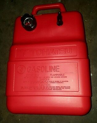 25 litre outboard boat fuel tank with gauge genuine tohatsu / mercury * NEW *