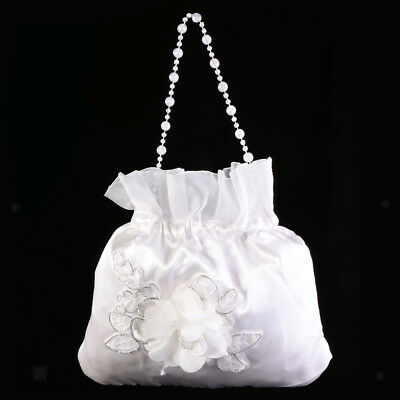 Satin Wedding Bridal Dolly Money Purse Bag Handbag for Candy Prom Evening