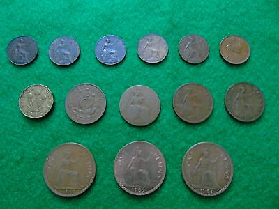 Old Coins   Pennys / Farthings /halfpenny / Brass Threepence