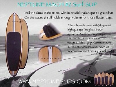 Surf SUP Boards, Paddleboard, Adjustable Carbon Paddles with Bamboo Blades,