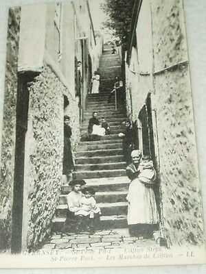 A genuine St Pierre Port Guernsey LL post card