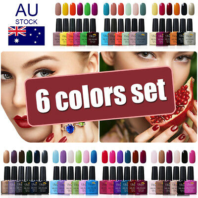 Ukiyo 6 Colors Soak Off UV Gel Nail Polish Gelpolish UV LED Top Base Coat