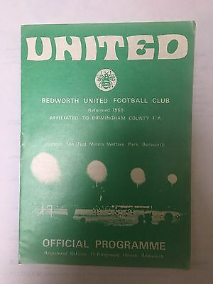 1972/73 BEDWORTH UNITED v WARLEY + RUGBY TOWN ( SOUTH LEAGUE)