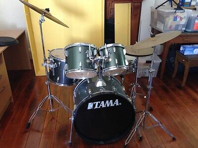 Tama Swingstar Acoustic Drum Kit with Paiste Cymbals and stool