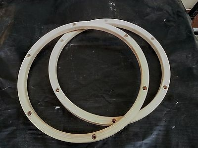 "Pair of 13"" 6 Lug Maple wood hoop"