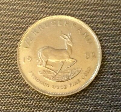 1982 South Africa 1/2 Ounce Krugerrand Gold Coin