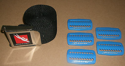 New Beaver Weight Belt & 5 Retainers Blue Scuba Diving Snorkelling 1.5metres
