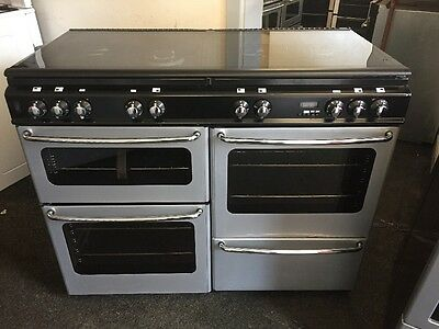 Stoves Dual Fuel Range Cooker 110cm Wide Black And Silver With Warranty