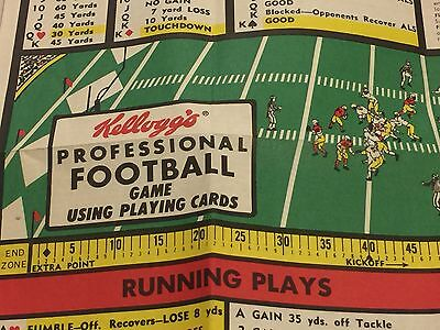 1970 KELLOGG'S PROFESSIONAL FOOTBALL PLAYING GAME. Cereal box premium.