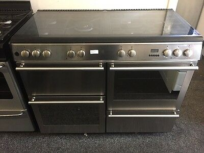 Dual Fuel Diplomat Range Cooker 110cm Wide Stainless Steel With Warranty