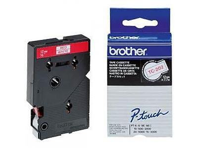 Etiquettes Brother Ptouch Rouge/blanc