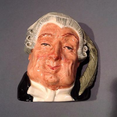 Royal Doulton THE LAWYER Small Character Toby Jug D6504, Excellent Condition
